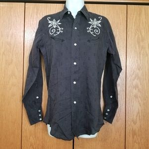 Vintage 50s H Bar C Ranchwear Embroidered Shirt L